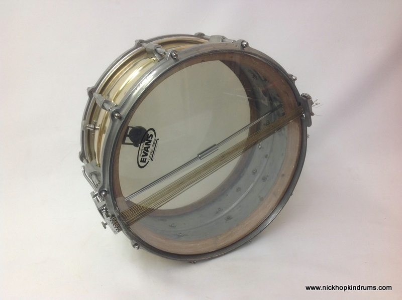 1930 s brass snare drum restoration vintage drums legendary sounds. Black Bedroom Furniture Sets. Home Design Ideas