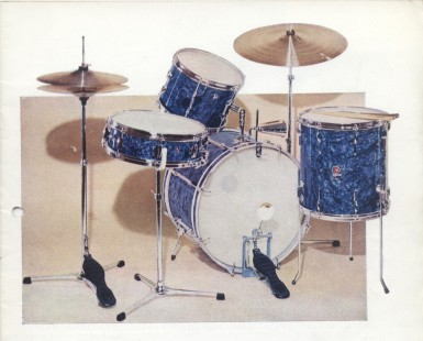 1963 Catalogue Premier '58' drum set