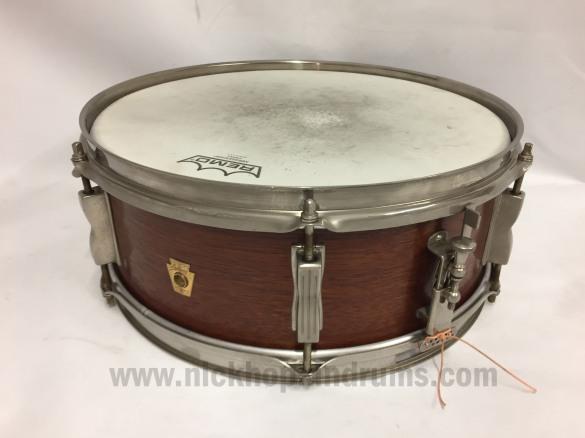 Ludwig Pioneer snare drum, 1965 at Nick Hopkin Drums www.nickhopkindrums.com