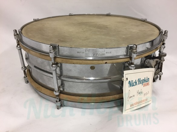 Premier Mayfair snare drum 1927 at Nick Hopkin Drums www.nickhopkindrums.com