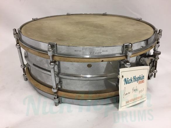 Premier Mayfair snare drum 1927 at Nick Hopkin Drums www.nickhopkindrums.com