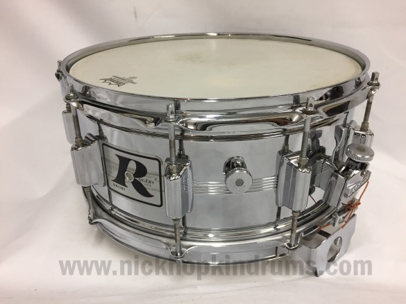 Rogers Dynasonic 6.5 snare drum available at Nick Hopkin Drums www.nickhopkindrums.com