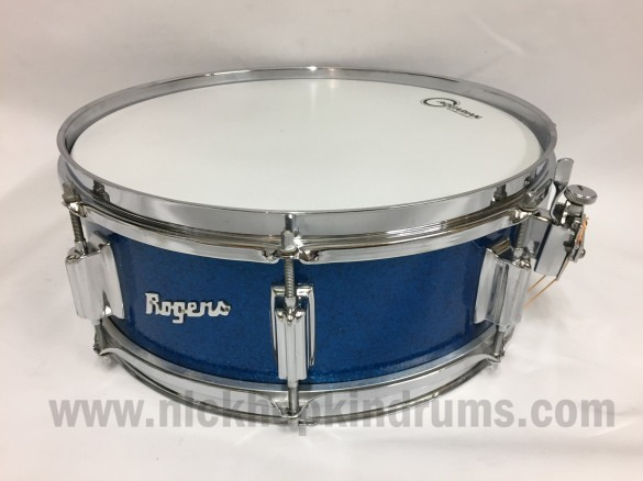 rogers-tower-snare-drum-blue-sparkle-at-nick-hopkin-drums