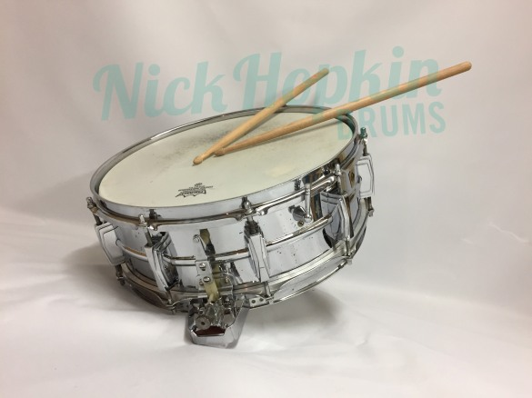 Ludwig 400 Super Sensitive snare drum 1966 at Nick Hopkin Drums www.nickhopkindrums.com