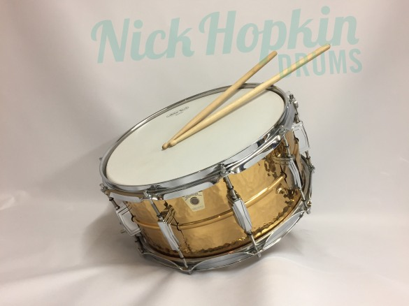 Ludwig Hammered Bronze 6.5 Snare drum available at Nick Hopkin Drums www.nickhopkindrums.com