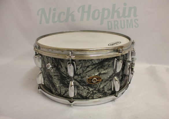 lingerland Standar Concert model snare drum 14x6.5 in Black diamond pearl at Nick Hopkin Drums, www.nickhopkindrums.com