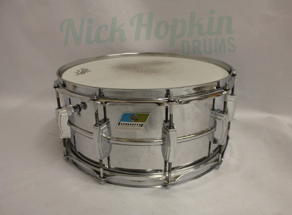 Ludwig 402 snare drum, 1969-70 available at Nick Hopkin Drums, www.nickhopkindrums.com